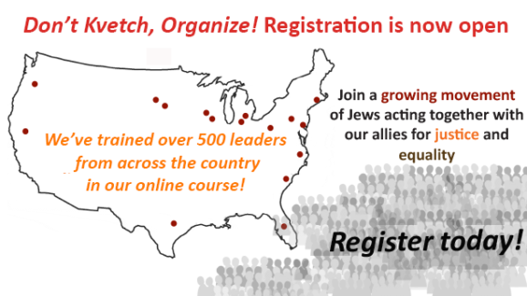 Register for our online course in community organizing today!