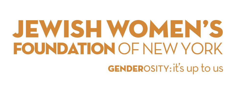 "Jewish Women's Foundation of New York logo, ""Genderosity: it's up to us"""