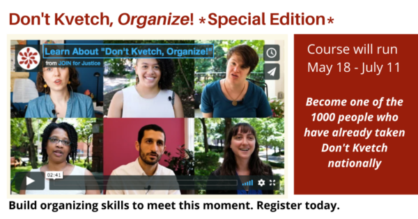 "Learn About ""Don't Kvetch, Organize!"""